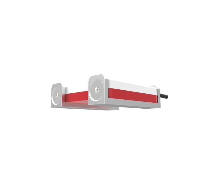 sonda zalania biało czerwona