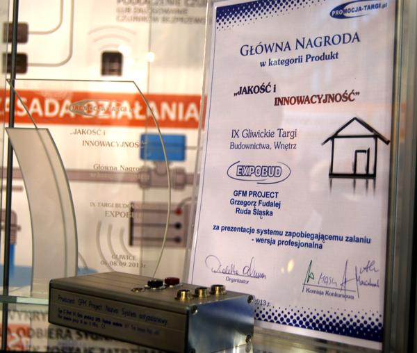 nagroda w kategorii Najlepszy Produkt - Gliwickie Targi Budownictwa i Wnętrz