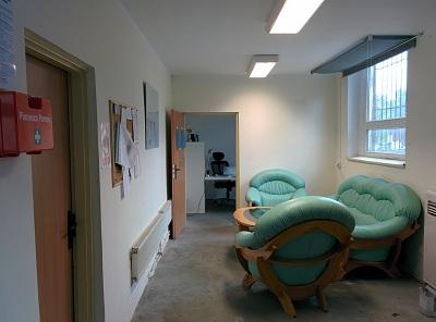 strefa wypoczynku w biurze GMF Projekt